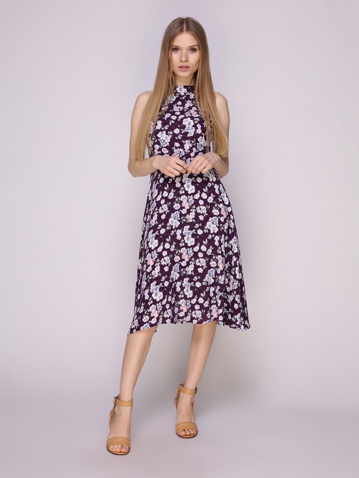 Платье фиолетовое в цветы   5029851