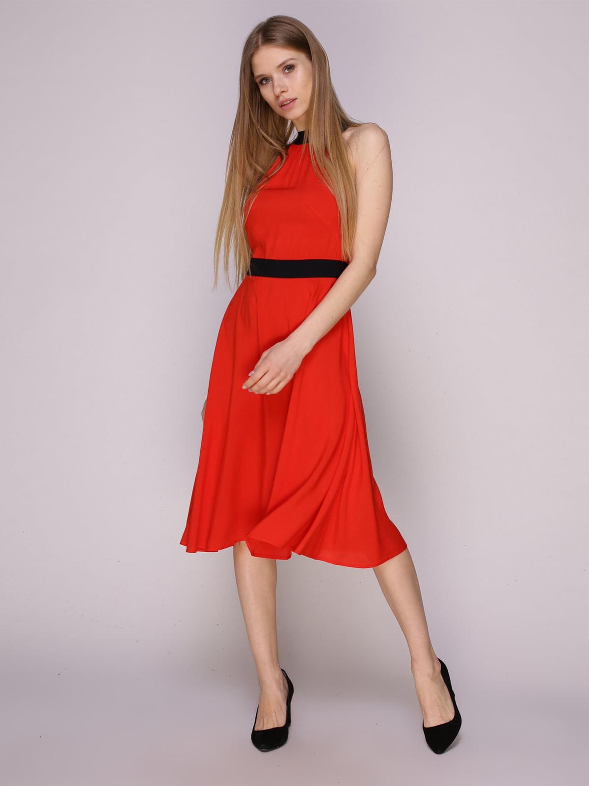 Платье красно-коралловое | 5029854