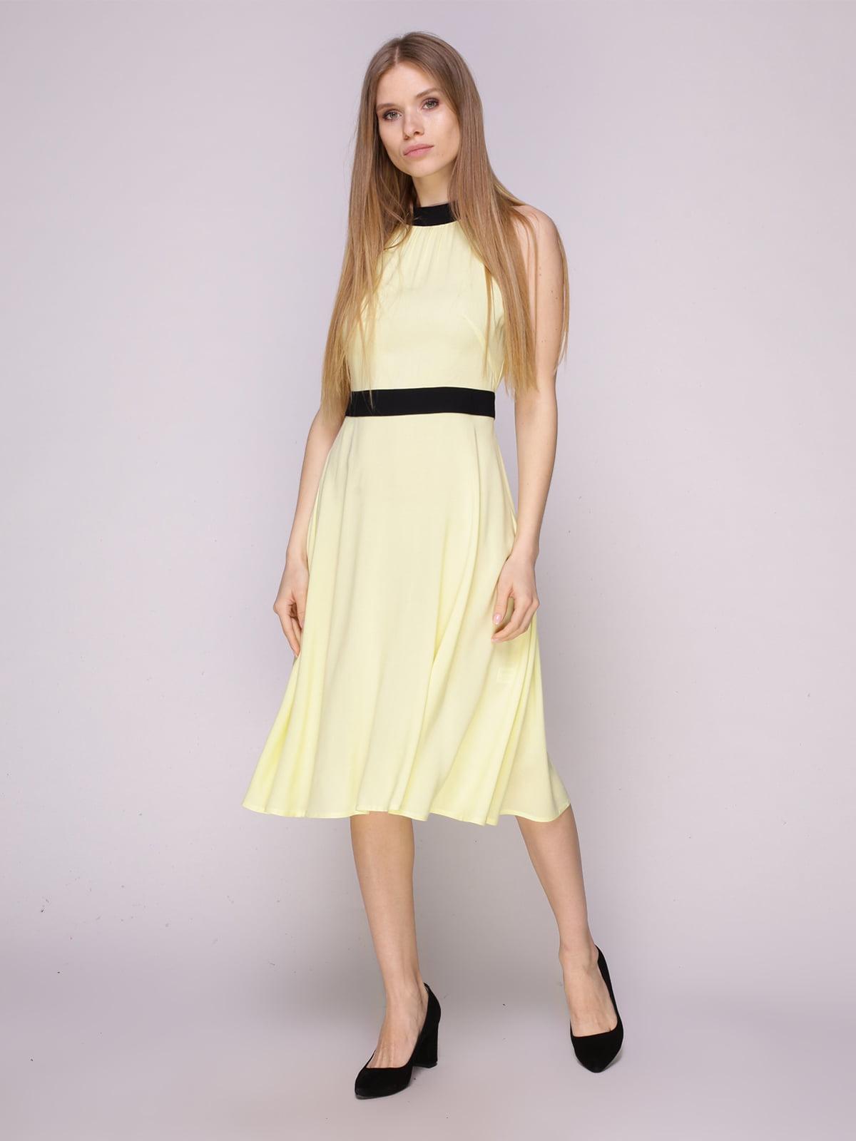 Платье желтое   5029856