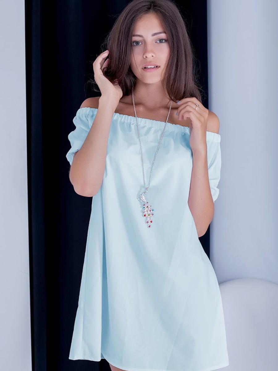 Платье голубое   5035075