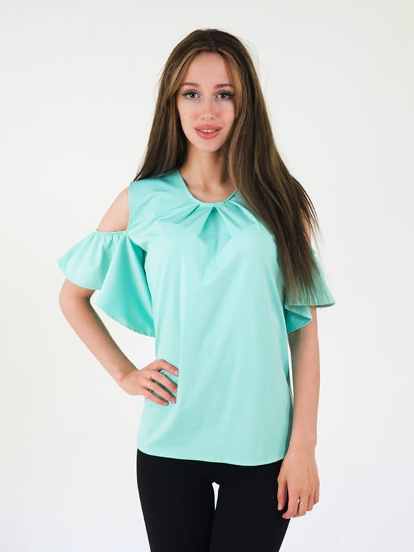 Блуза ментолового цвета   5035152