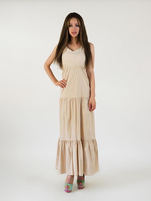 Платье бежевое | 5035209