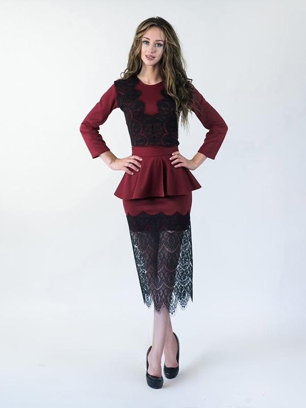 Платье бордовое | 5035294