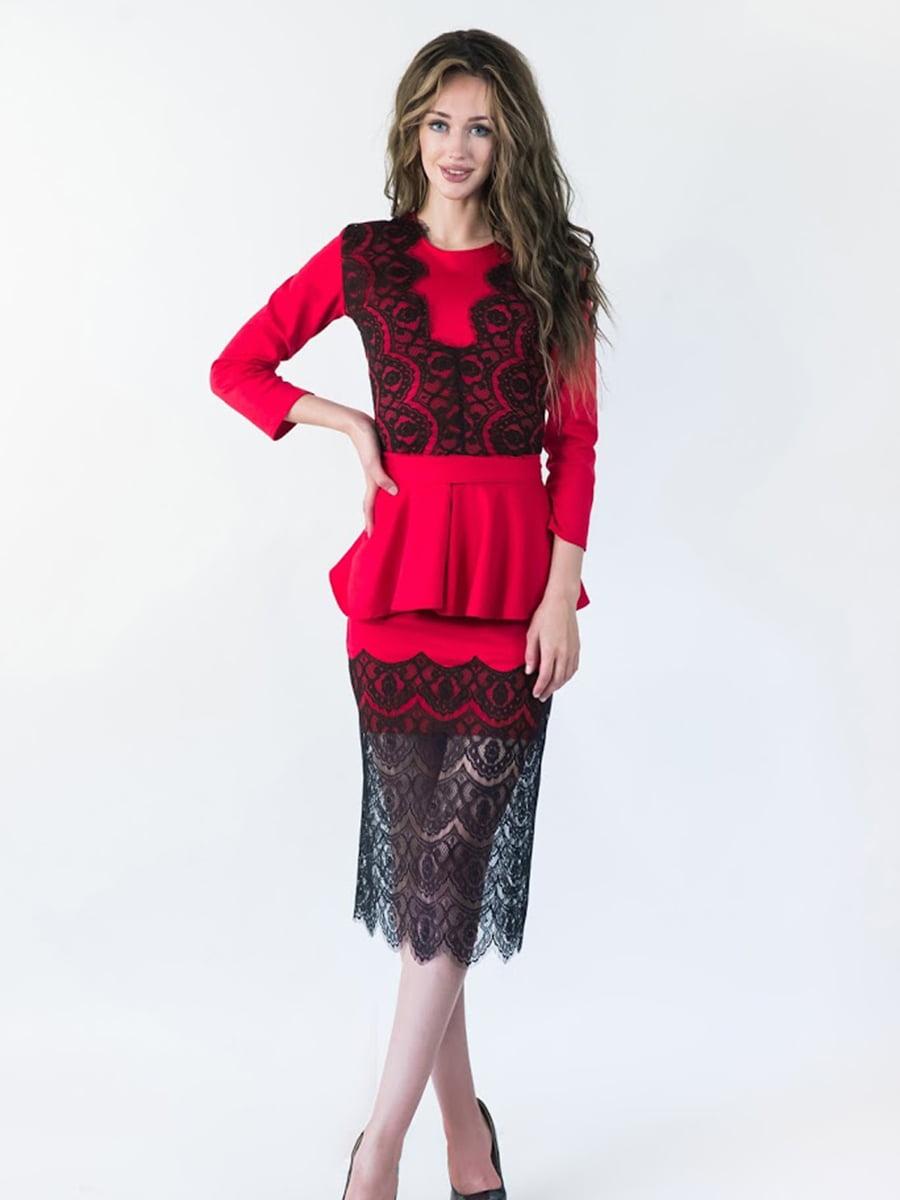Платье красное | 5035297