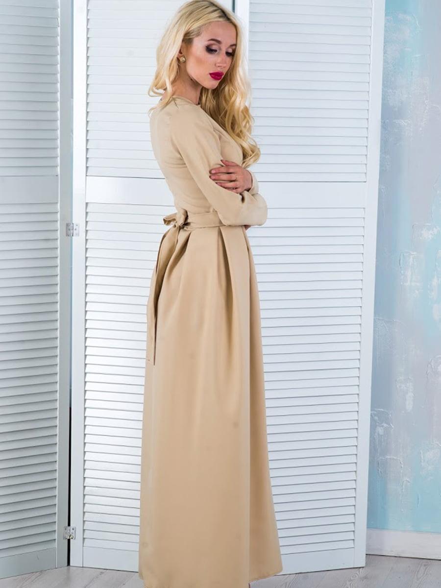Платье бежевое | 5035310