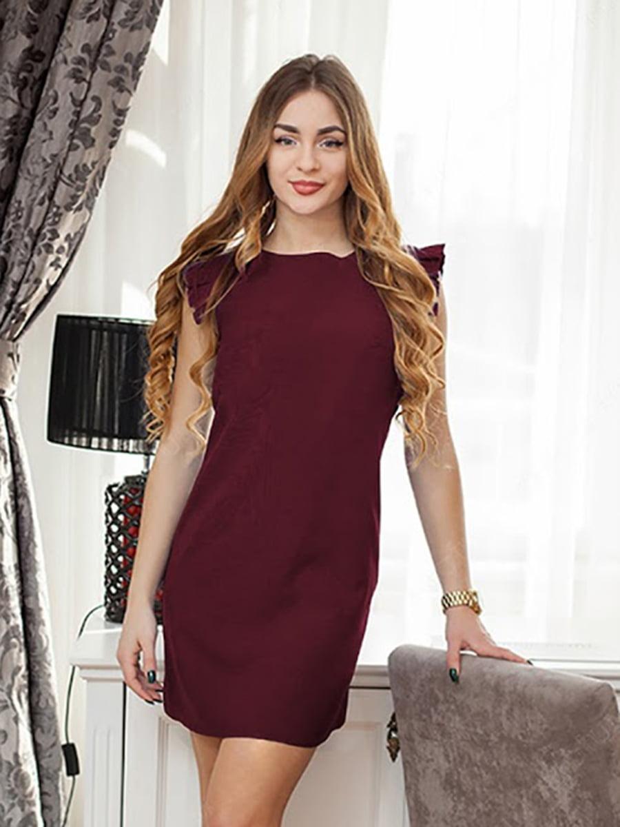 Платье бордовое | 5035335