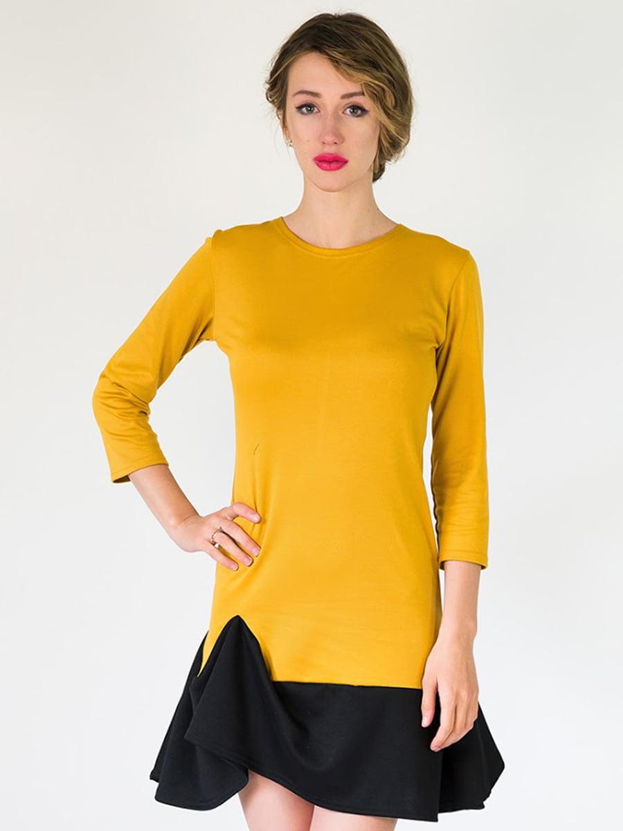 Платье горчичного цвета   5035339