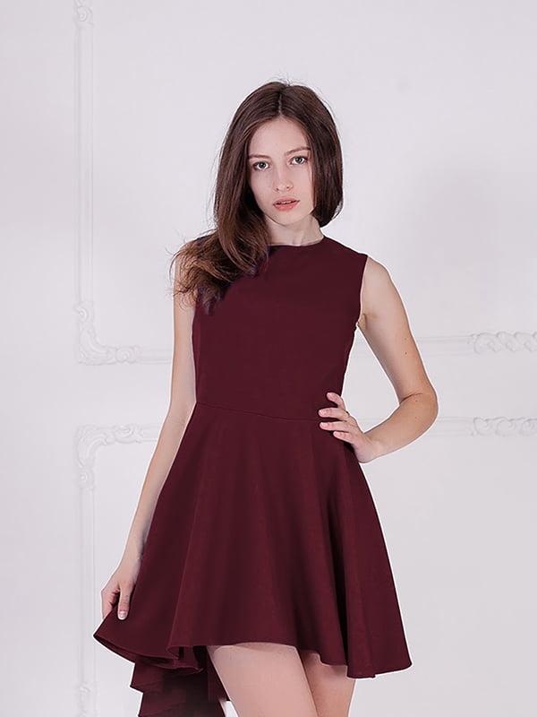 Платье бордовое   5035370