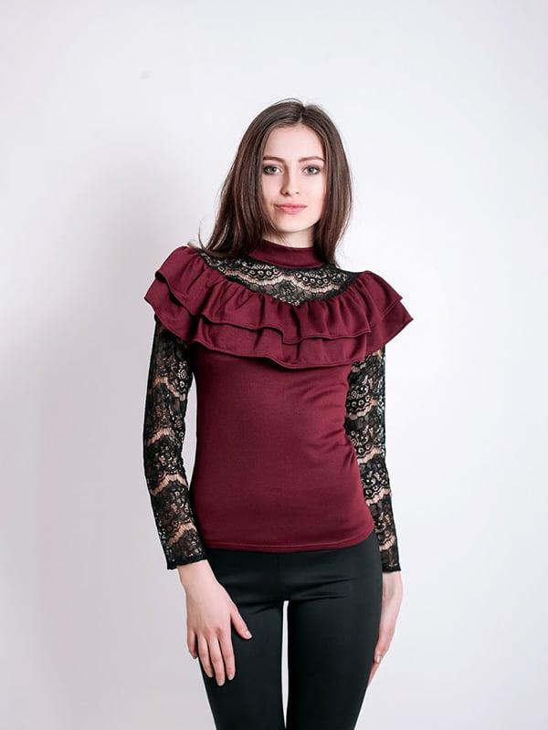 Блуза бордовая | 5035410