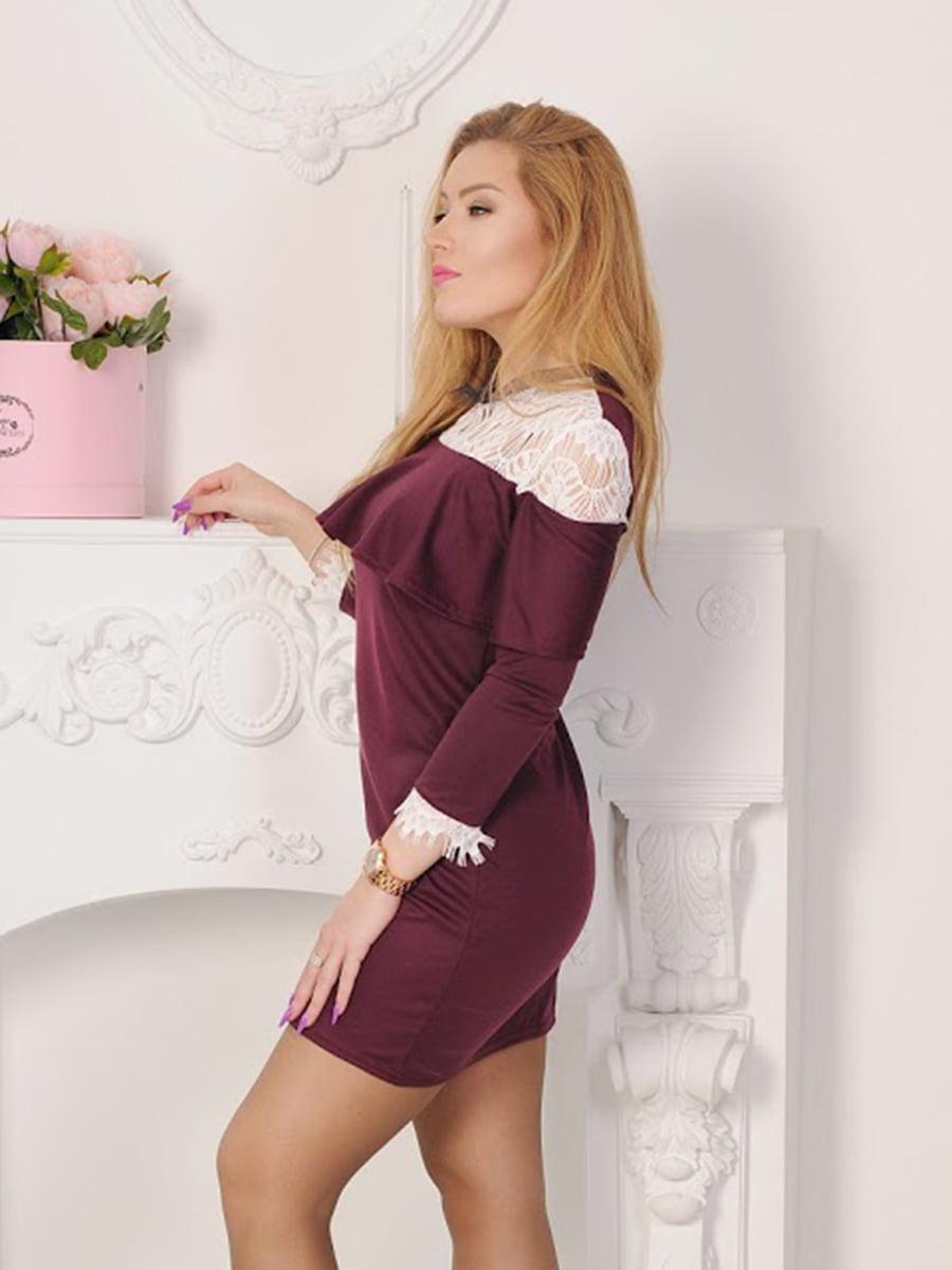 Платье бордовое | 5035418