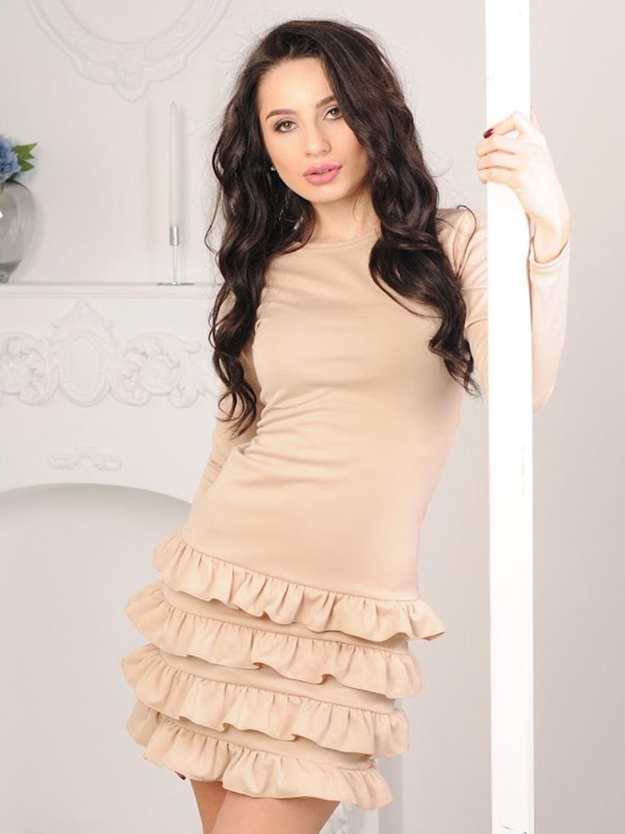 Платье бежевое   5035462