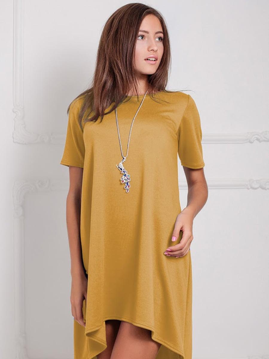 Платье горчичного цвета | 5035480