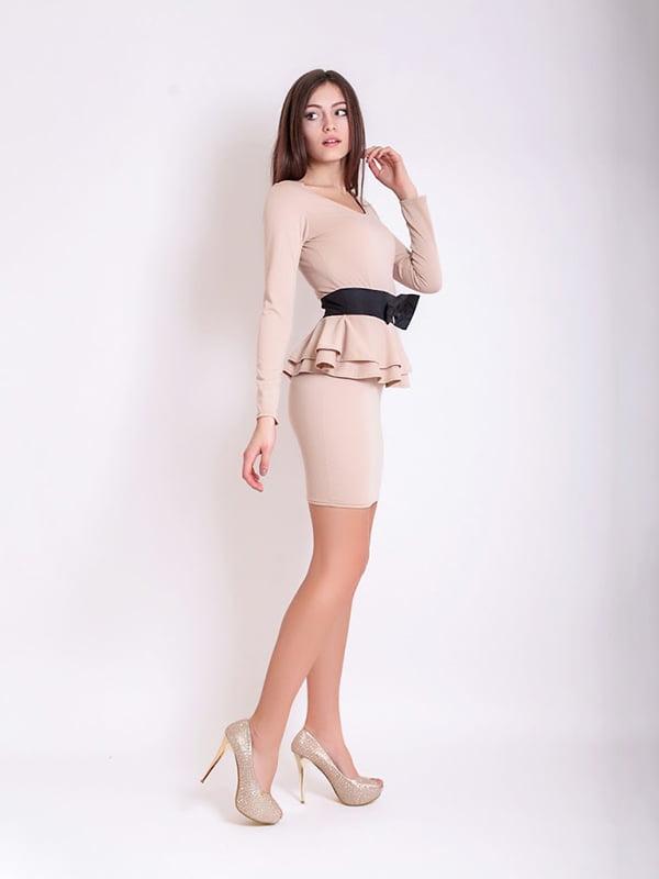 Платье бежевое | 5035491