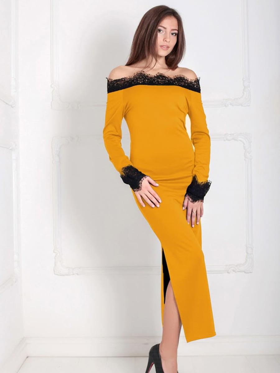 Платье горчичного цвета   5035496