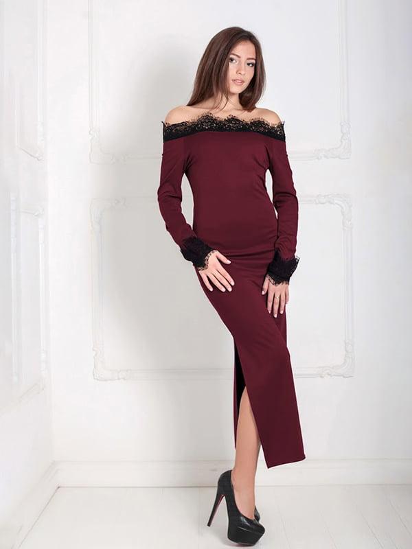 Платье бордовое | 5035497