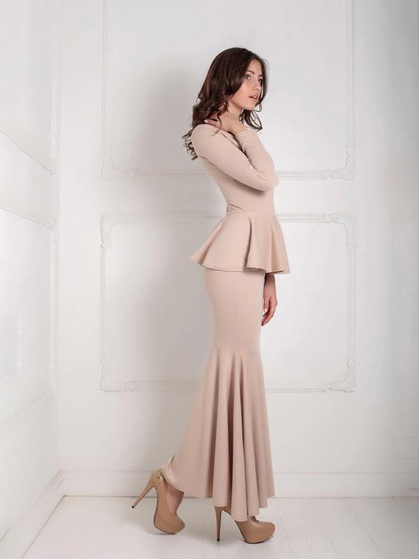 Платье бежевое | 5035535