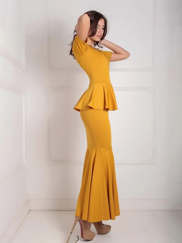 Платье горчичного цвета   5035541