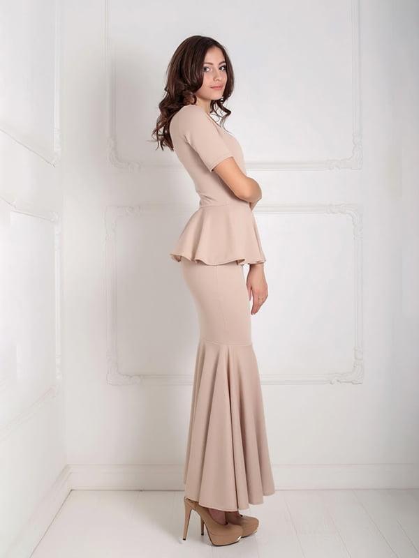 Платье бежевое | 5035543