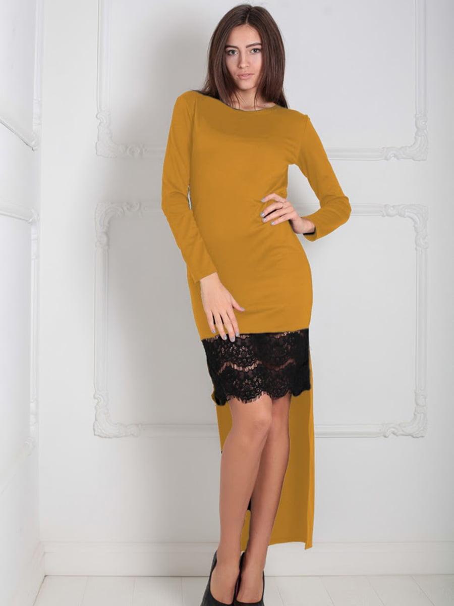 Платье горчичного цвета | 5035549