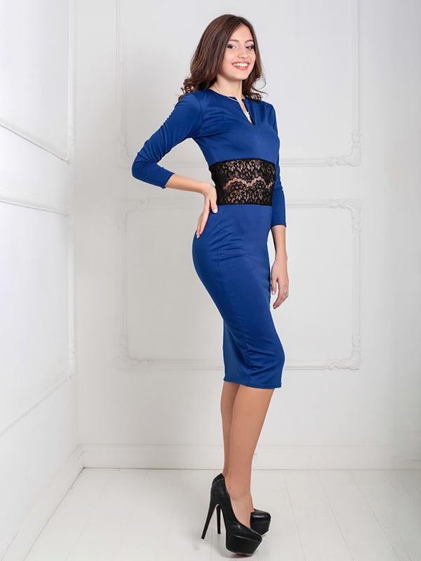 Платье синее   5035555