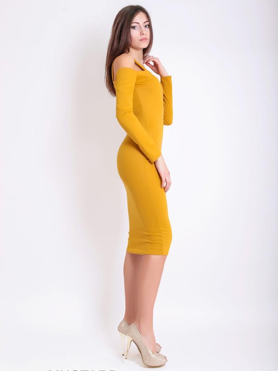 Платье горчичного цвета | 5035561