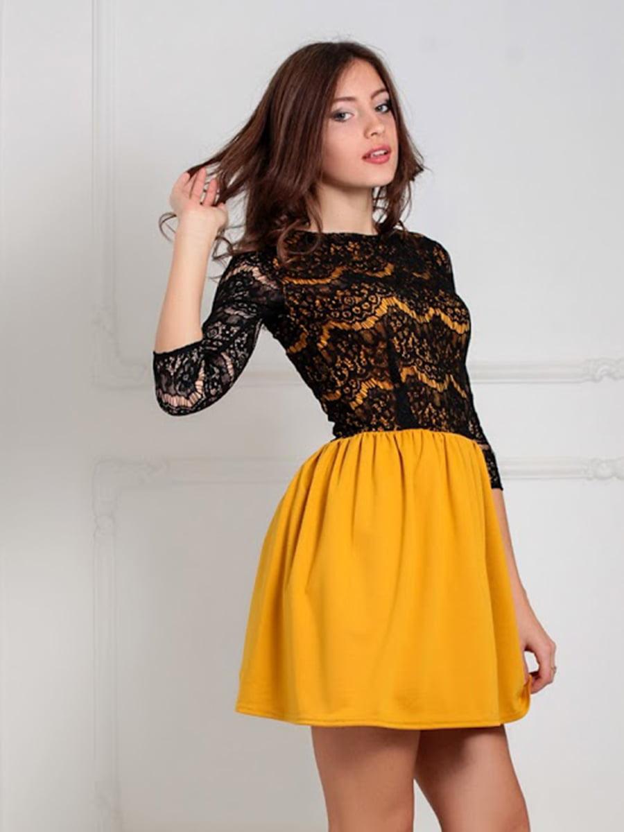 Платье горчичного цвета | 5035586