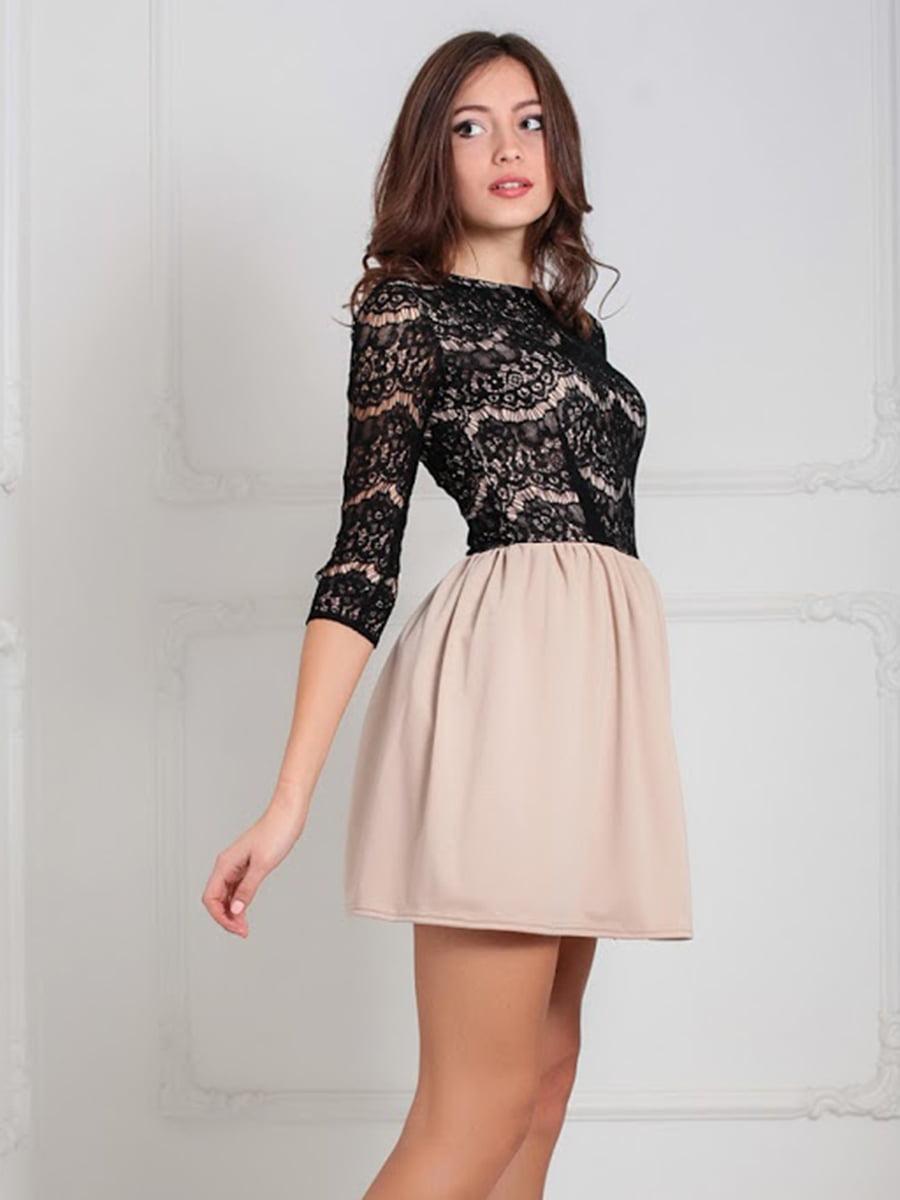 Платье бежевое | 5035588