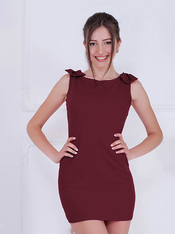 Платье бордовое | 5035621