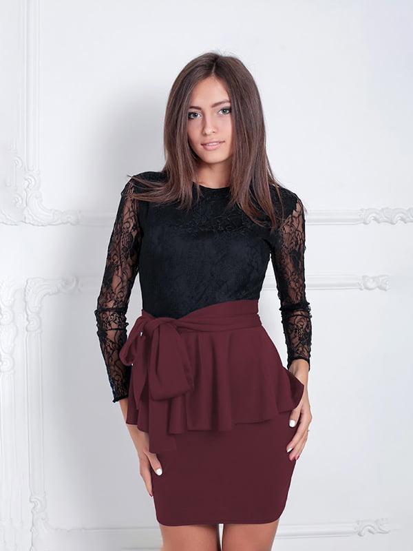 Платье бордовое   5035627