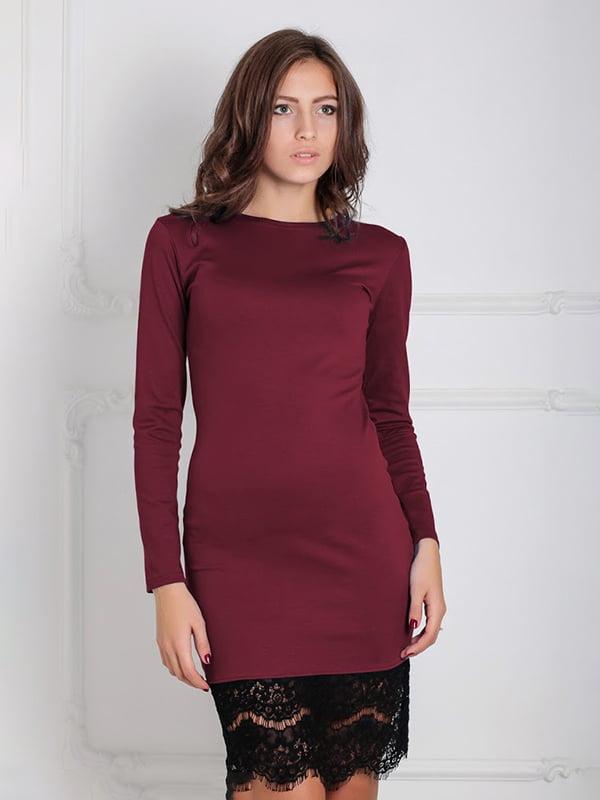 Платье бордовое | 5035639
