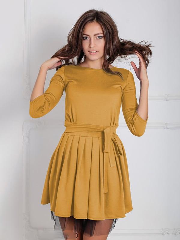 Платье горчичного цвета | 5035641