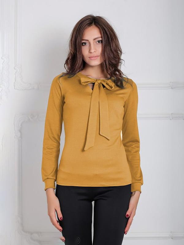 Блуза горчичного цвета   5035647