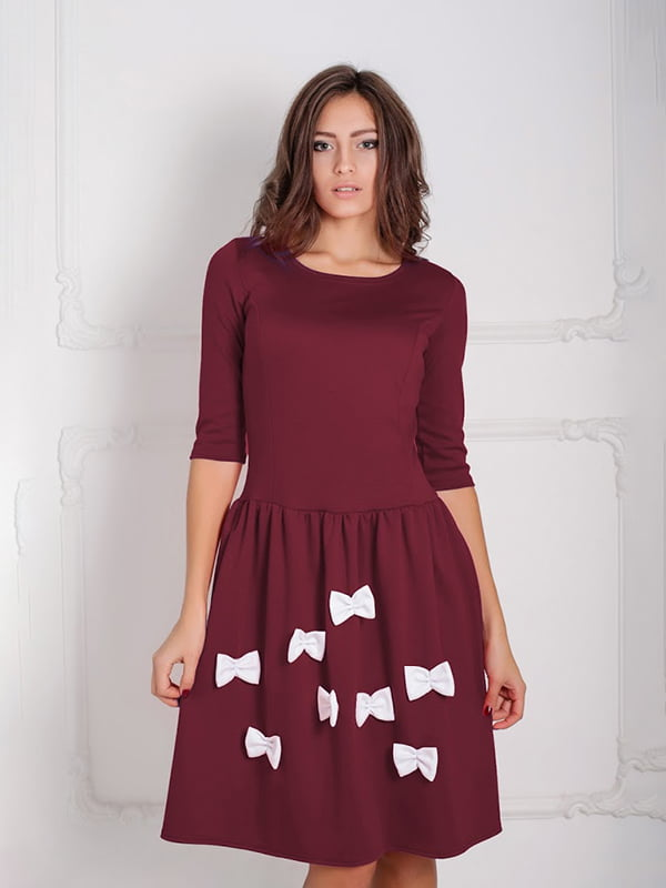 Платье бордовое | 5035651