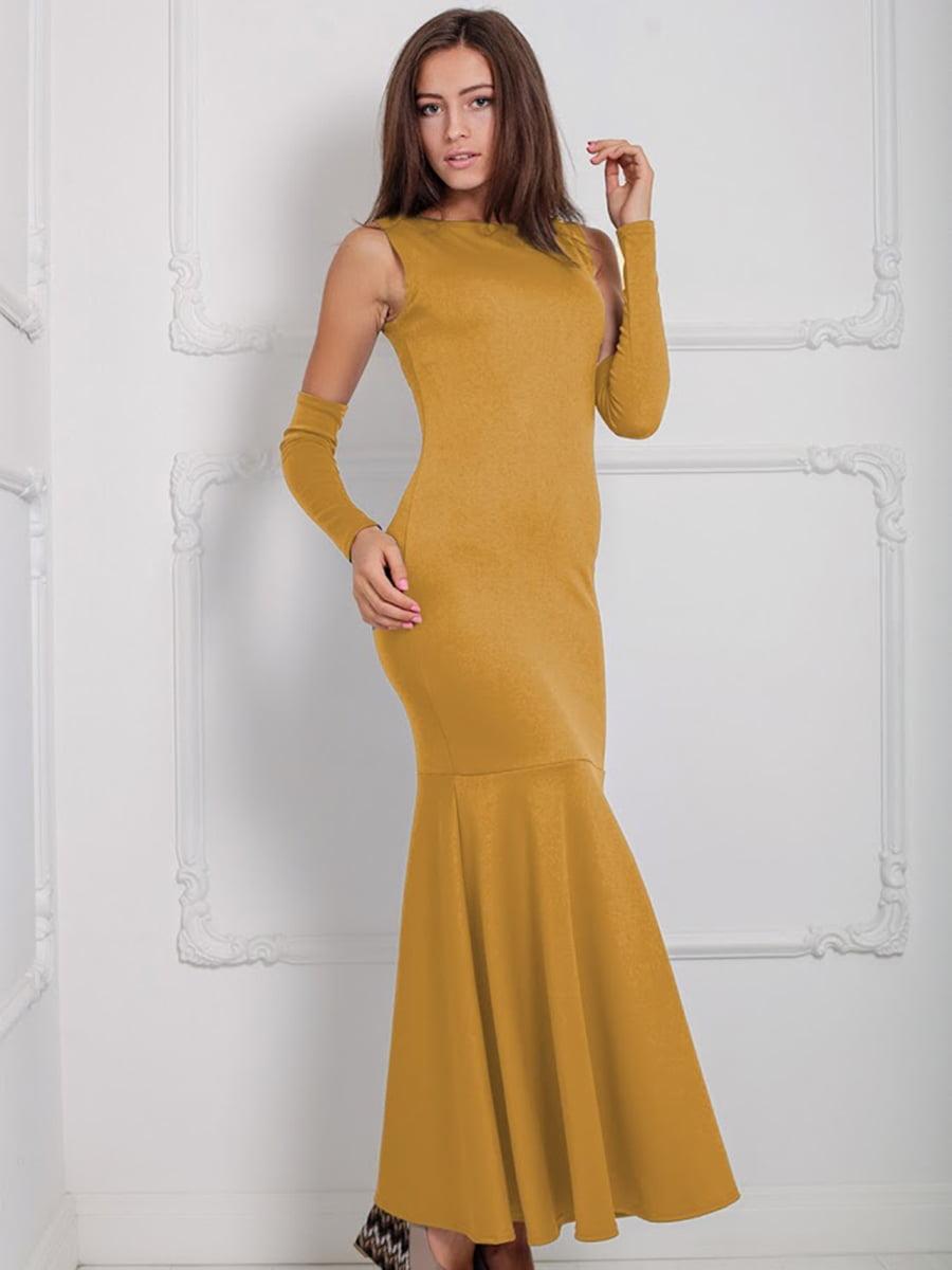 Платье горчичного цвета | 5035659
