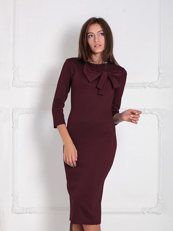 Платье бордовое | 5035663