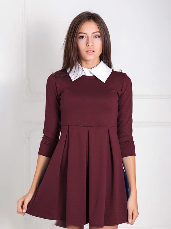 Платье бордовое   5035669