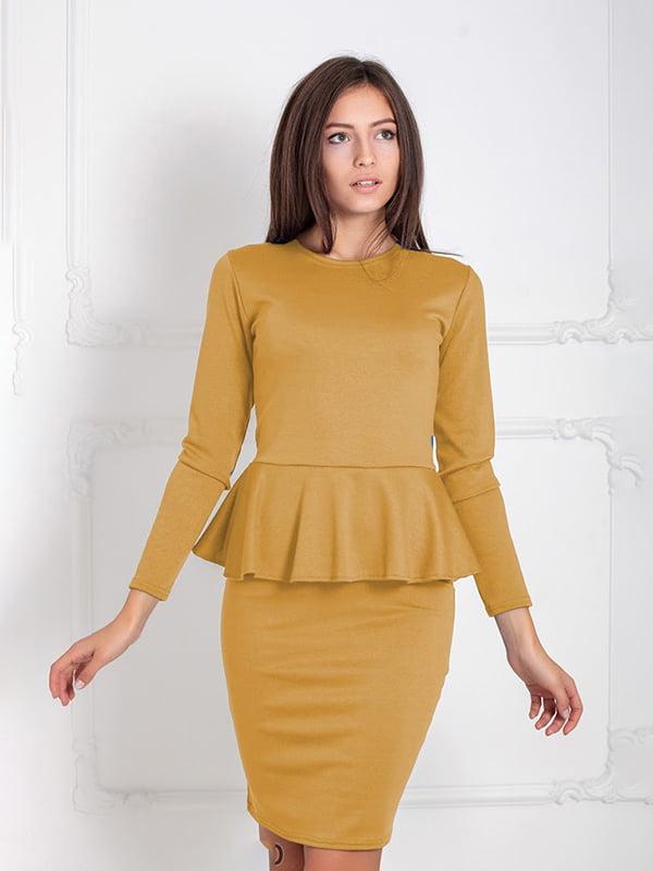 Платье горчичного цвета   5035674