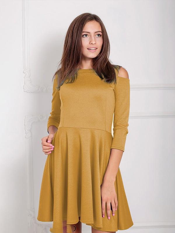 Платье горчичного цвета   5035683