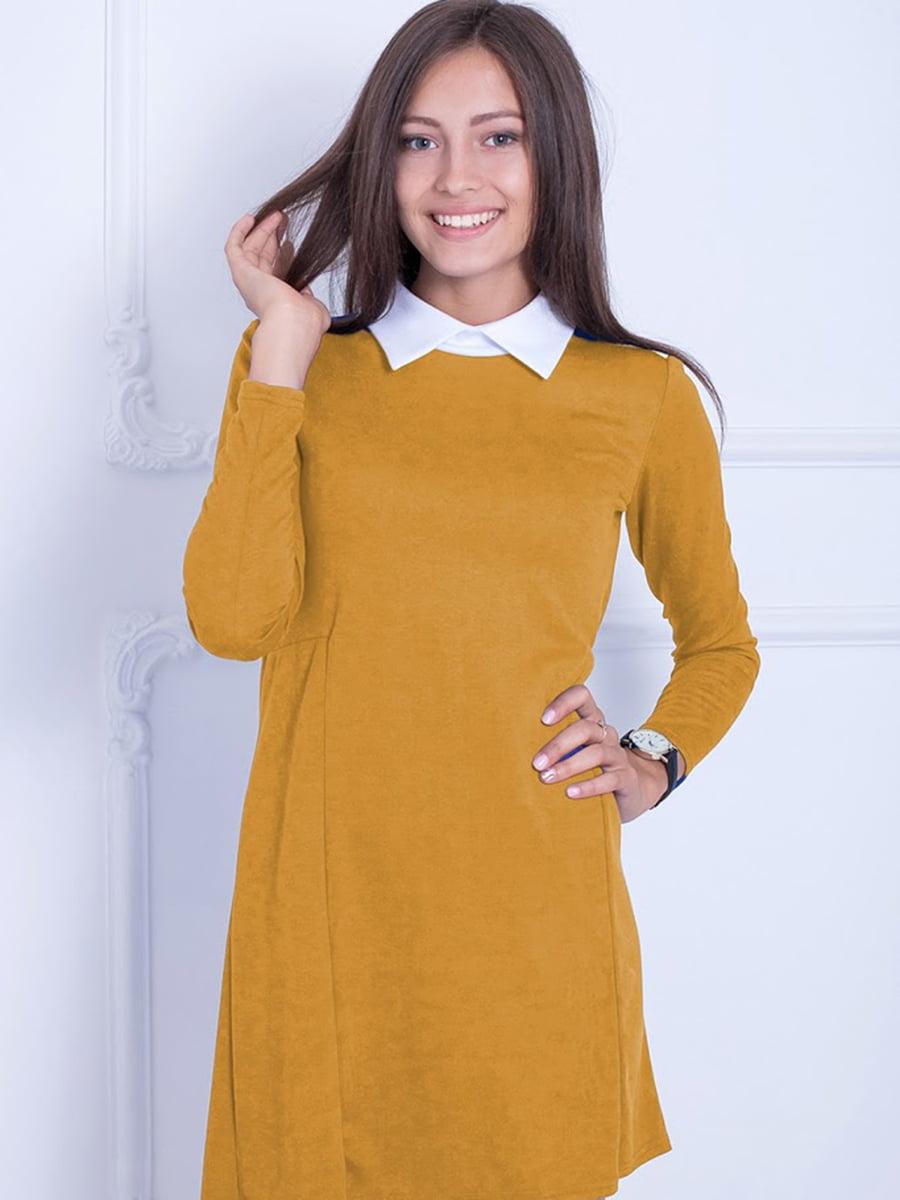 Платье горчичного цвета | 5035704
