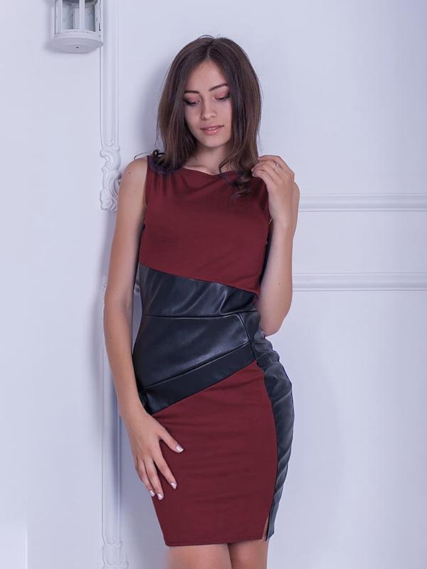 Платье бордовое | 5035711