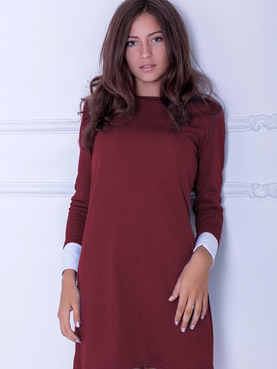 Платье бордовое | 5035714