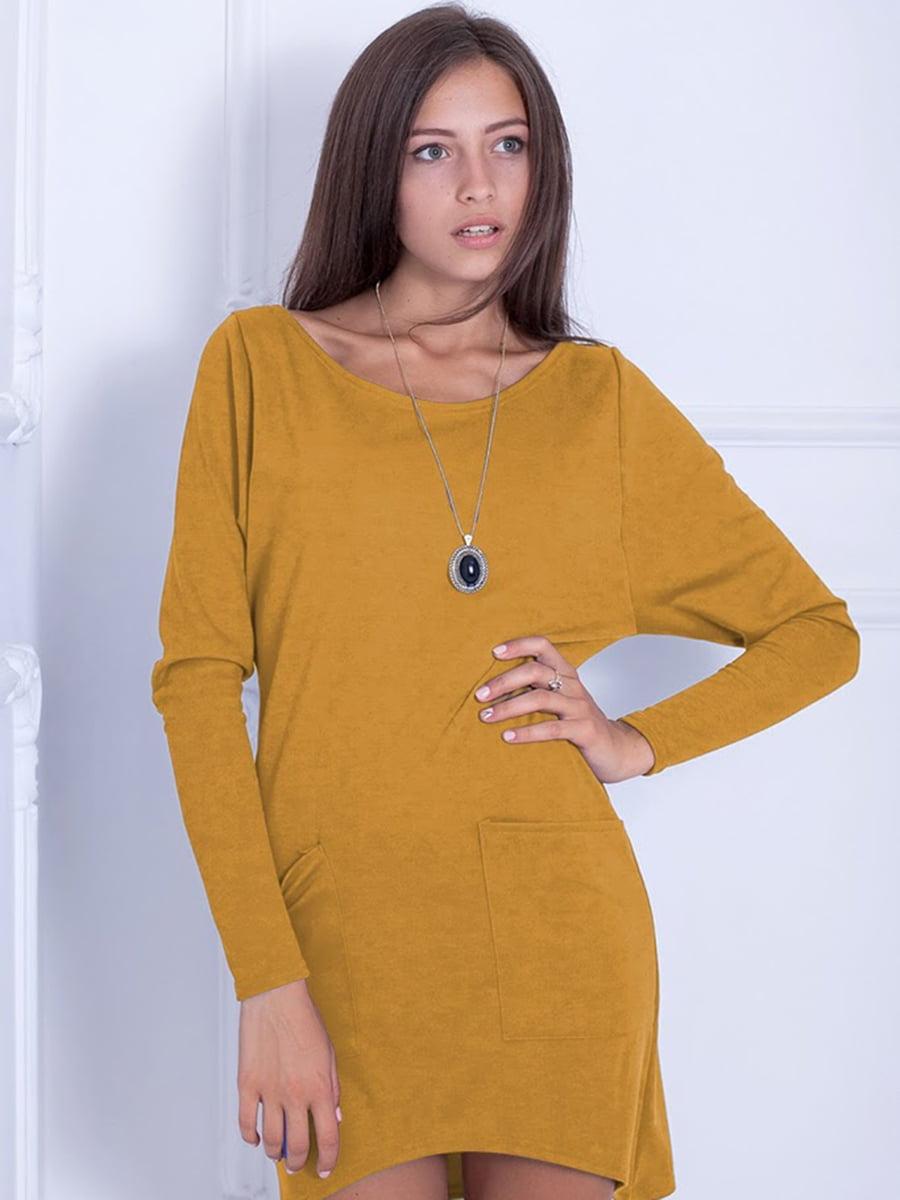 Платье горчичного цвета | 5035716