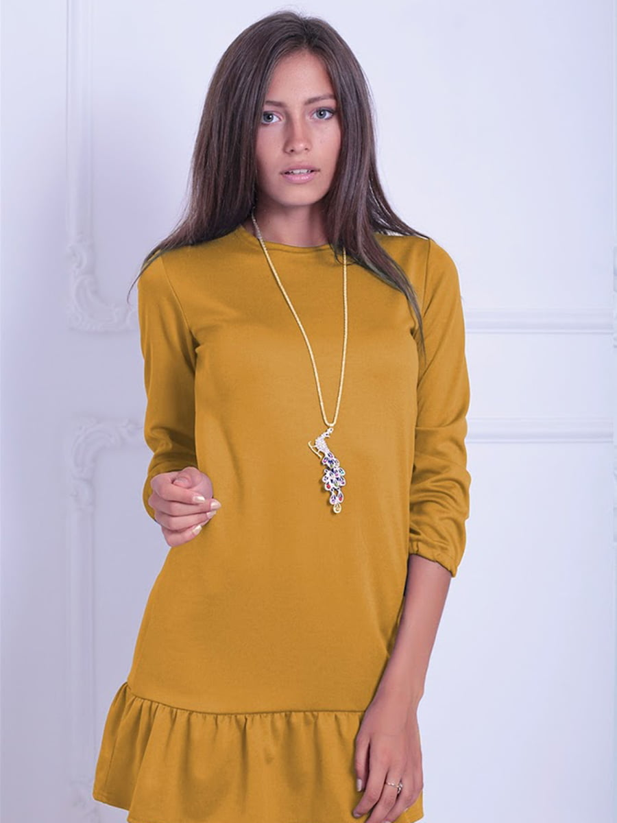 Платье горчичного цвета   5035728
