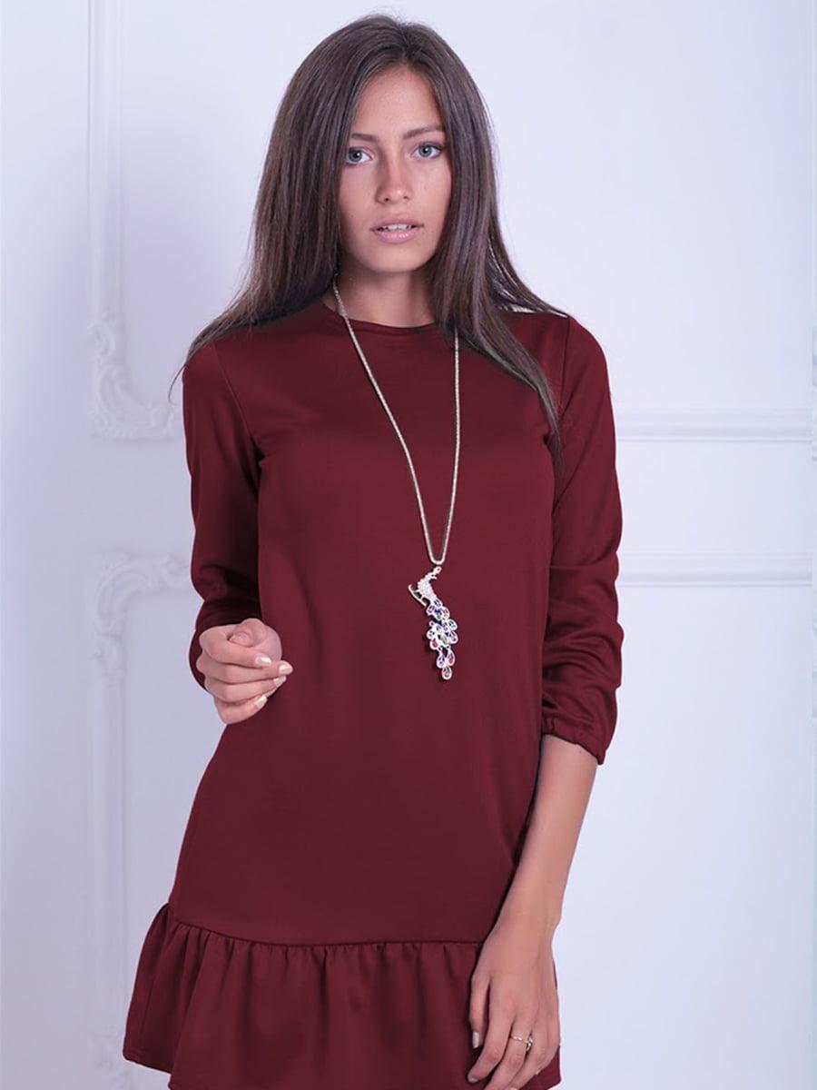 Платье бордовое | 5035729
