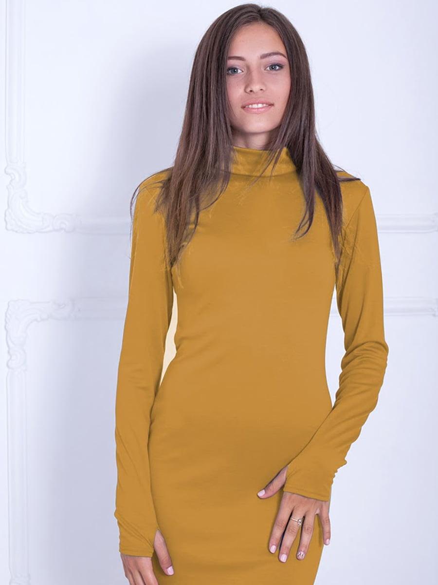 Платье горчичного цвета   5035740