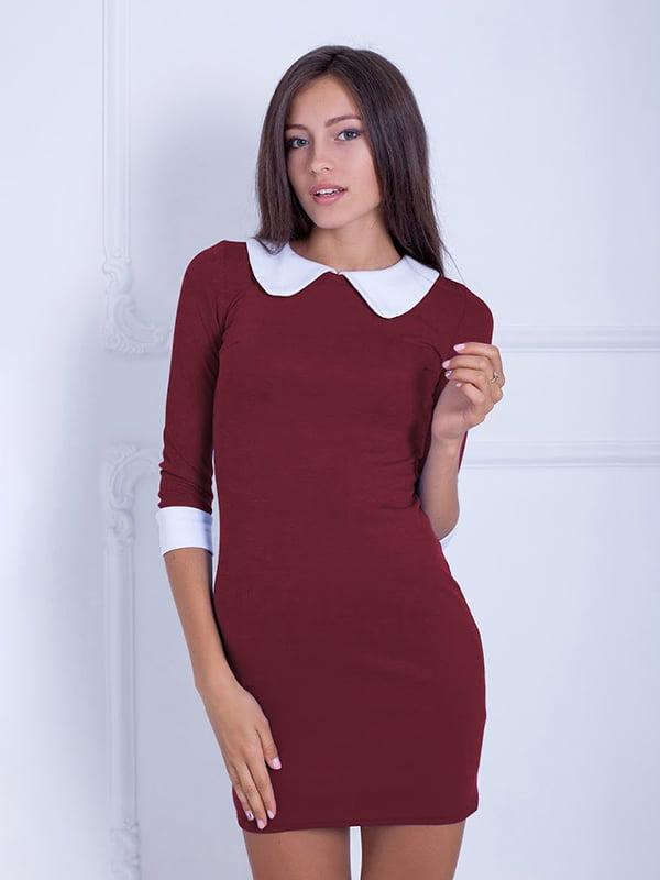 Платье бордовое   5035750