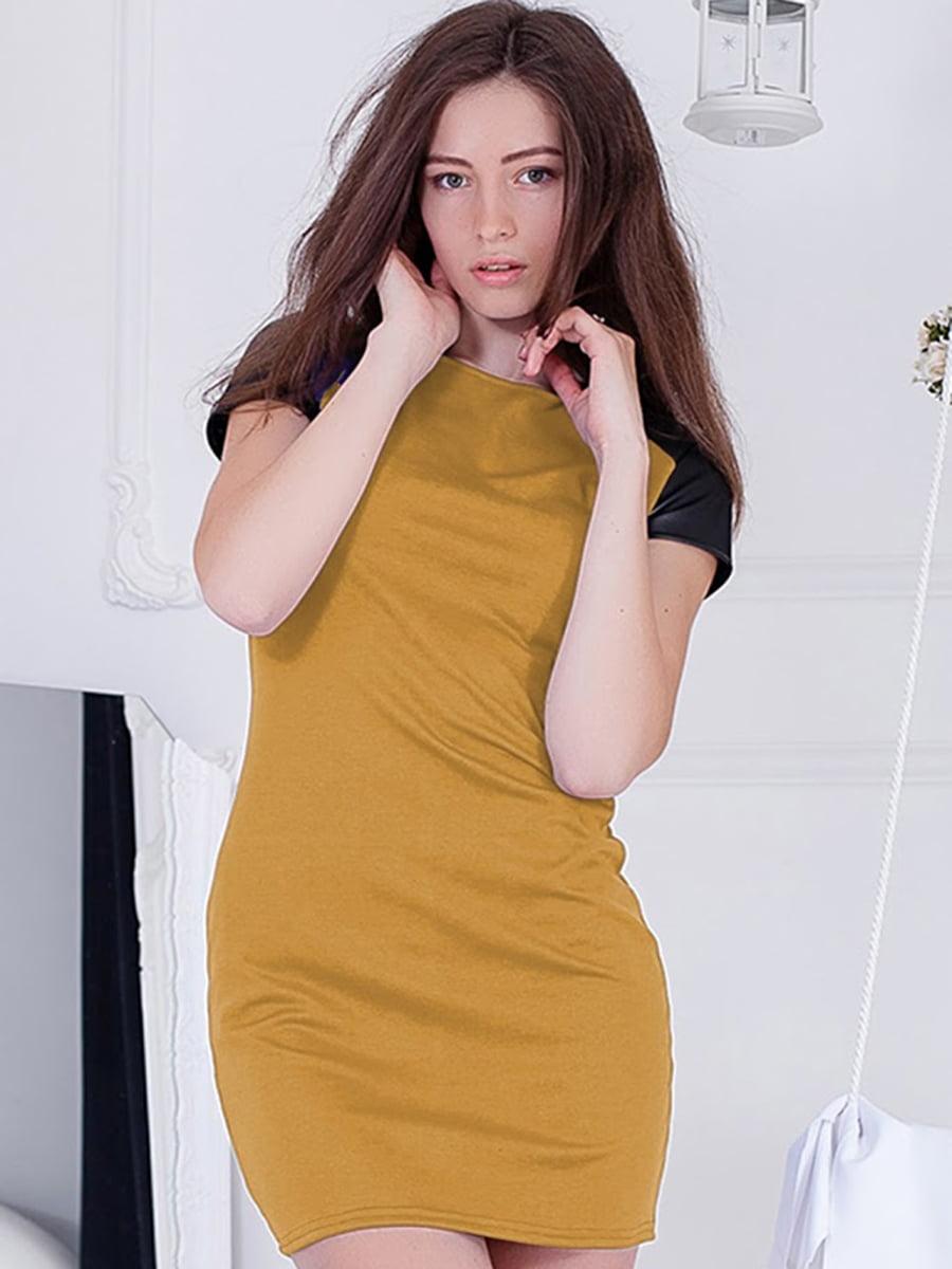 Платье горчичного цвета   5035752