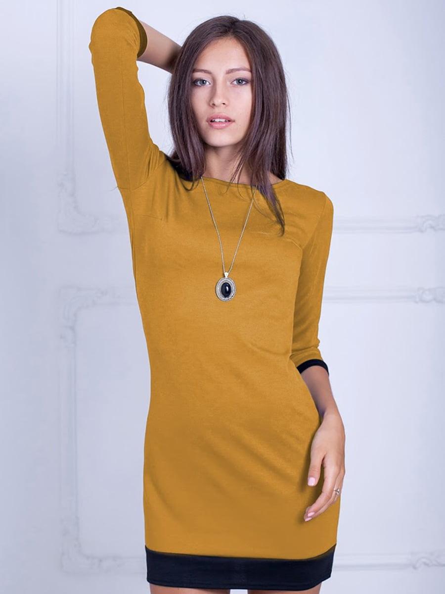 Платье горчичного цвета | 5035755