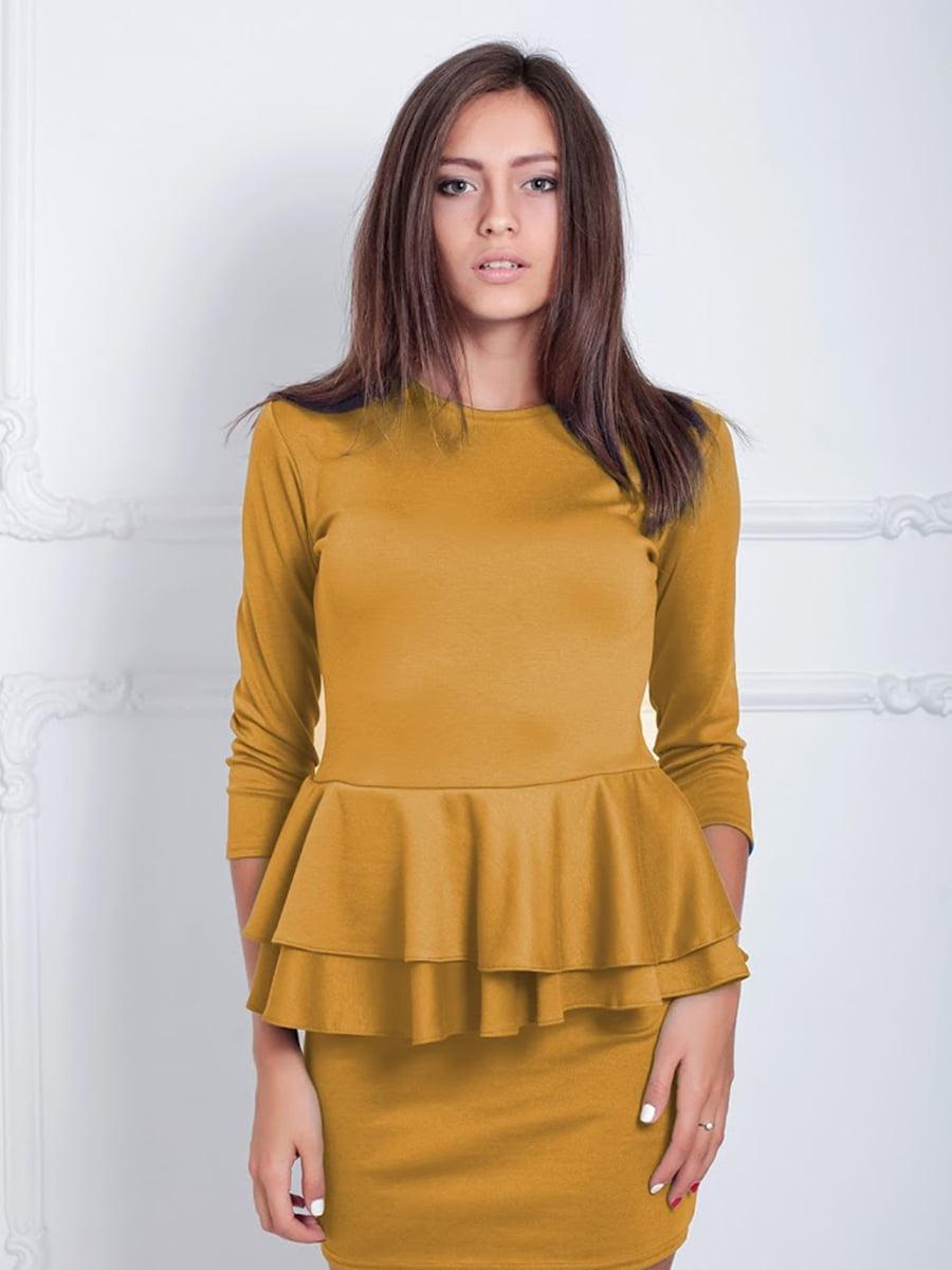 Платье горчичного цвета | 5035773