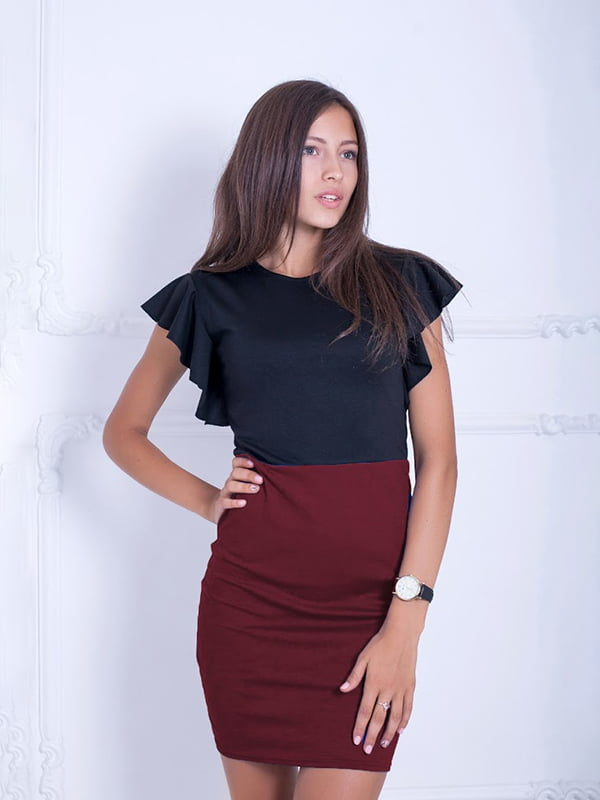 Платье двухцветное | 5035780